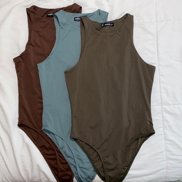 3 shein body suits